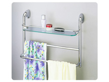 <span class='notranslate'>Glass Shelves With Towel Bar</span>